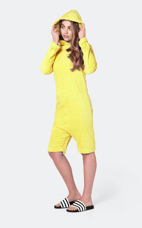 Onepiece Pearl Towel Jumpsuit Yellow