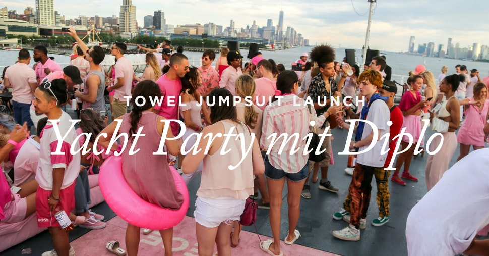 Yacht Party fat jewish Diplo Onepiece Towel Jumpsuit