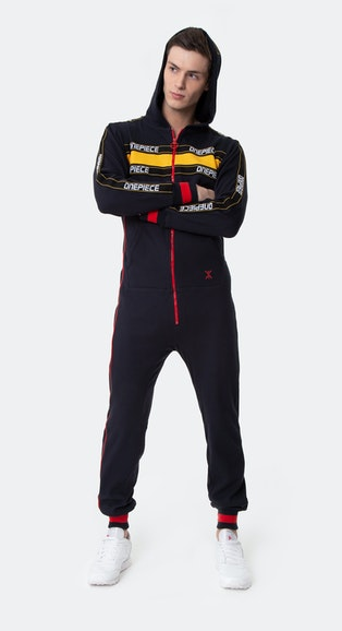 Onepiece Pit Crew Jumpsuit Black