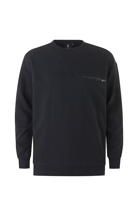 Onepiece Plunge Sweater Schwarz