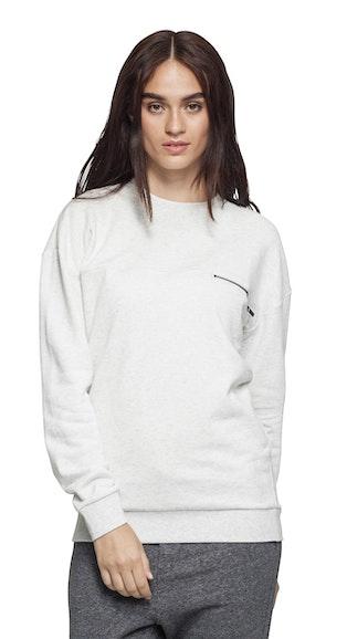 Onepiece Plunge Sweater Snow White Mel