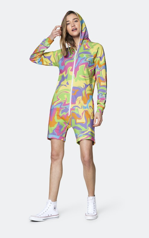Onepiece Psychedelic Pride short jumpsuit 와인 퍼플