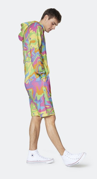 Onepiece Psychedelic Pride short jumpsuit Multi