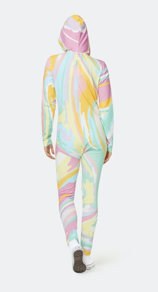 Onepiece Psychedelic Slim Jumpsuit Multi