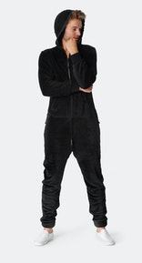 Onepiece Puppy Hug Jumpsuit Black