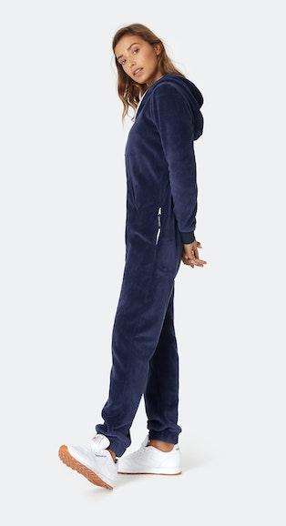 Onepiece Puppy Hug Fleece Jumpsuit Midnight Blue