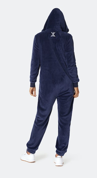 Onepiece Puppy Hug Fleece Jumpsuit Midnight Blue