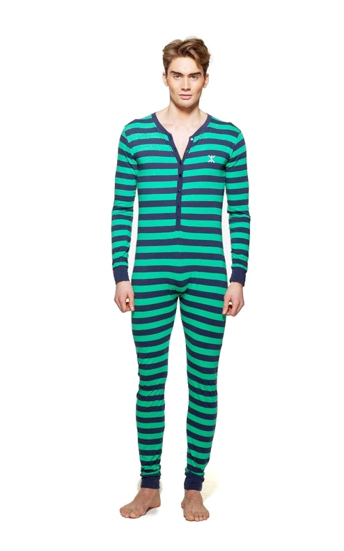 pyjamas onesie green navy. Black Bedroom Furniture Sets. Home Design Ideas