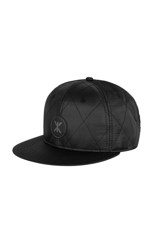 Onepiece Quilted Cap Snapback Black
