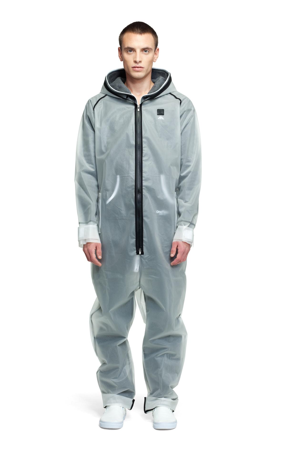 rain jumpsuit transparent frosted onesie onepiece us. Black Bedroom Furniture Sets. Home Design Ideas