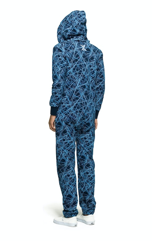 Onepiece Reach Jumpsuit Blue printed
