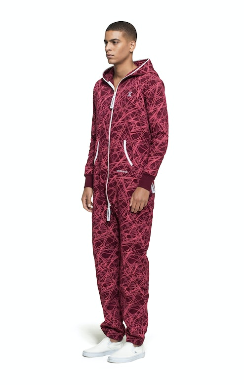 Onepiece Reach Jumpsuit Red printed