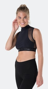 Onepiece Reef Crop Top Polo Black