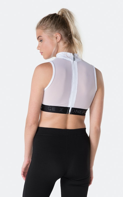 Onepiece Reef Crop Top Polo White
