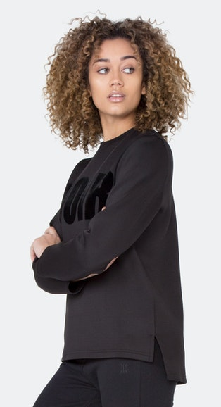 Onepiece Scuba Sweater BLACK