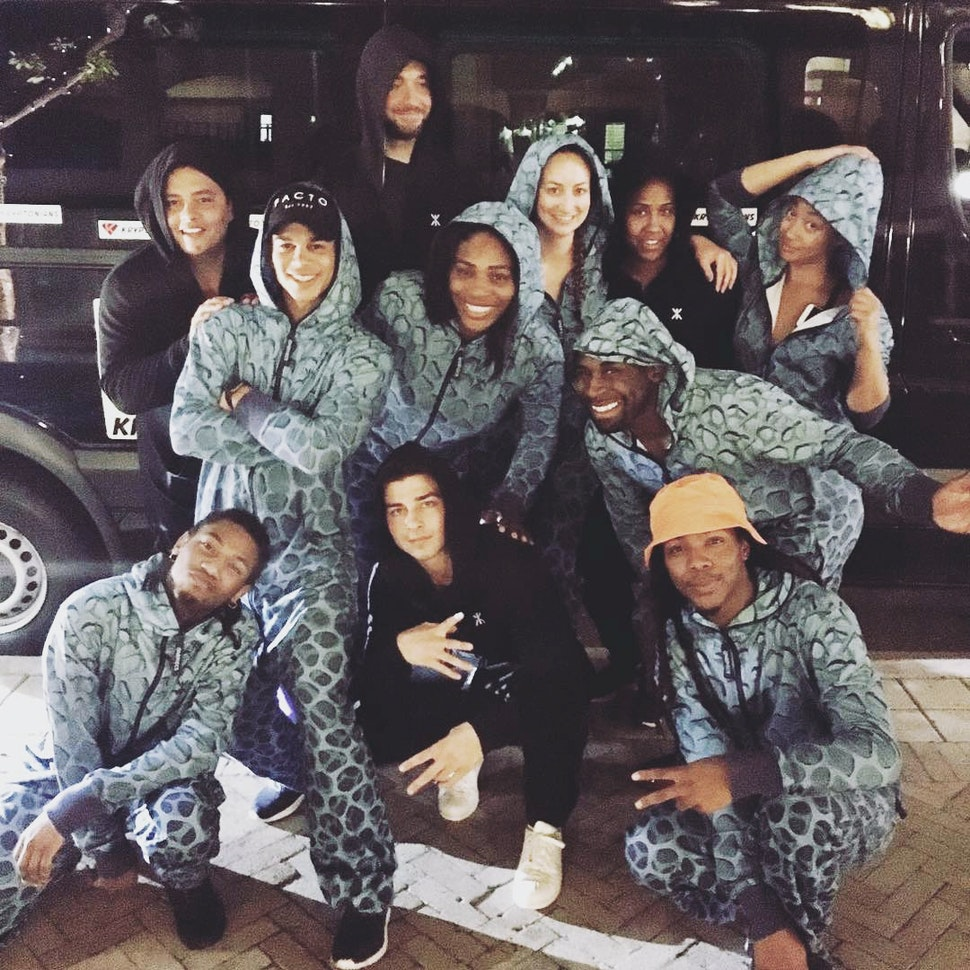 Serena Williams wearing onepiece jumpsuit tryphobia custom