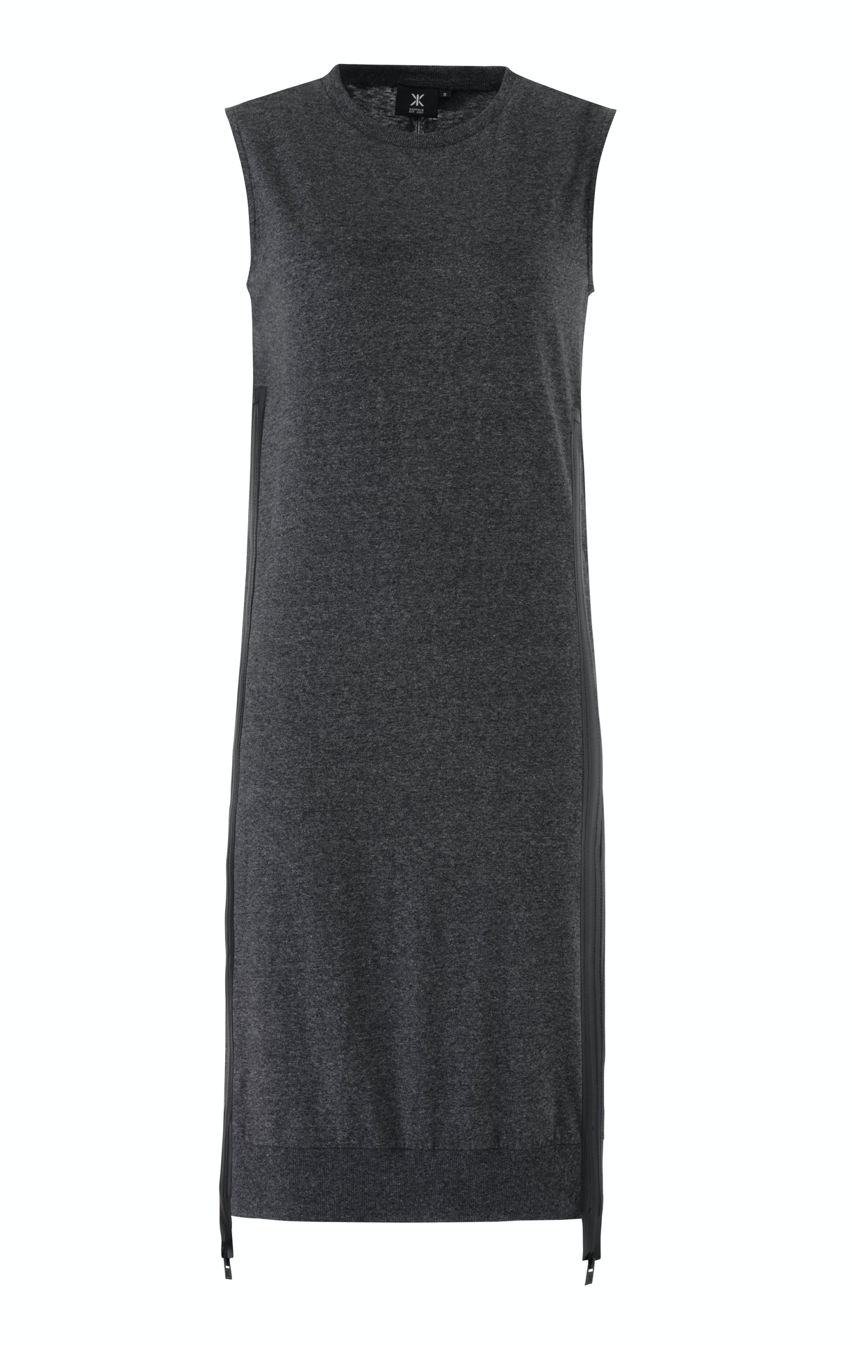 Shore Dress Black Mel A simple, lightweight summer dress in faded black with a twist. Adjust the water resistant zippers on each side and style your own way.