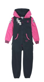 Onepiece Skater Kids Jumpsuit Midnight Blue / Raspberry