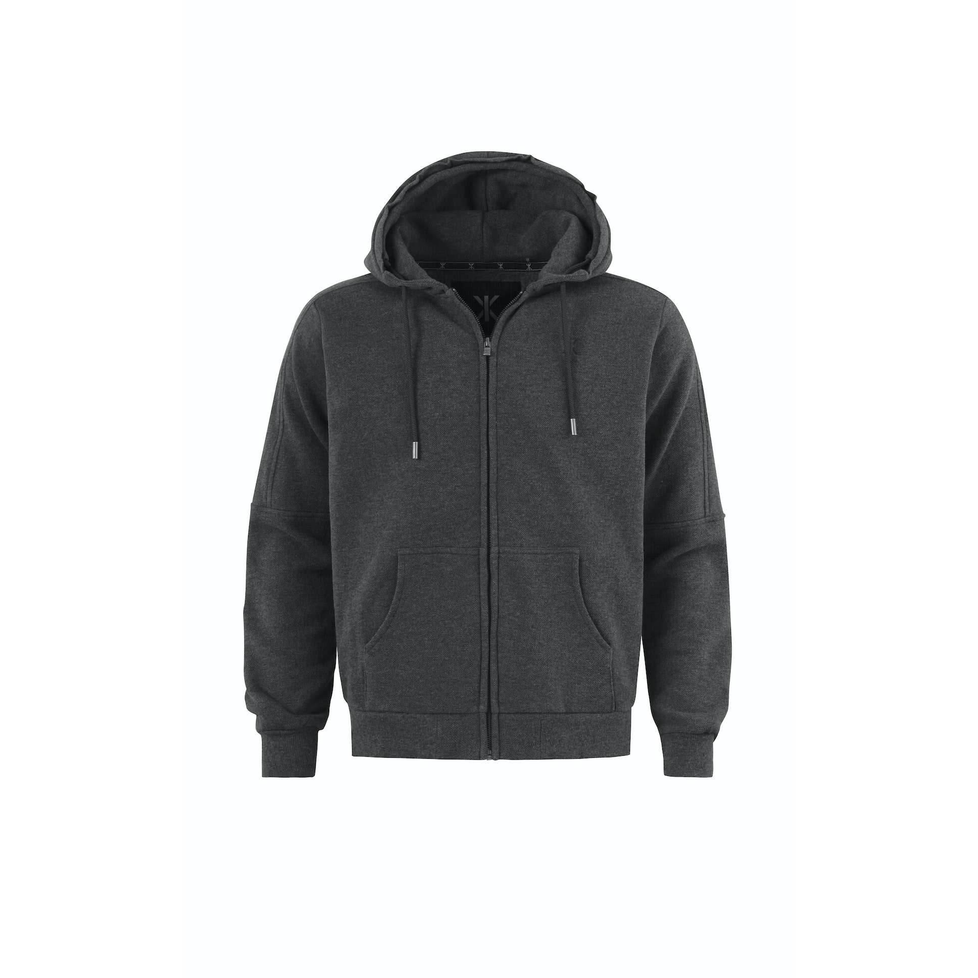 Slow Zip Hoodie Dark Grey Melange from OnePiece :: Buy from Onepiece on The UK High Street
