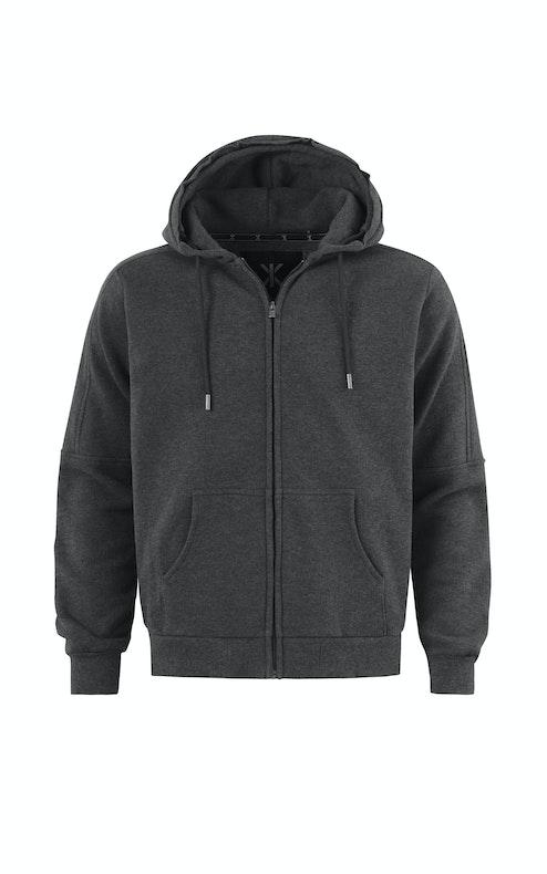 Onepiece Slow Zip Hoodie Dark Grey Melange