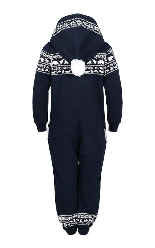 Onepiece Snowball Kids Jumpsuit Navy