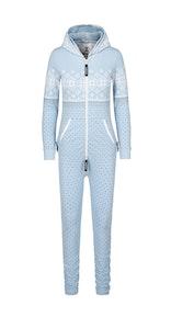 Onepiece Snowdrift Slim Jumpsuit Hellblau