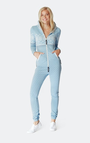 Onepiece Snowdrift Slim Jumpsuit Light Blue