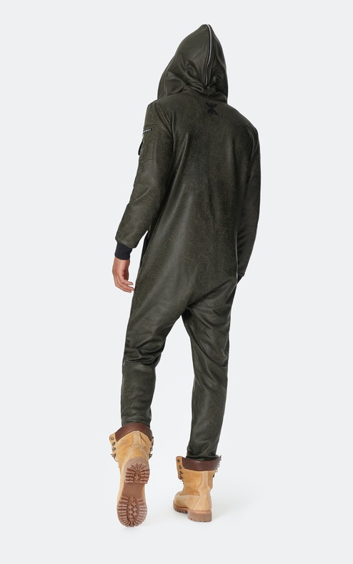 Onepiece Soft Bomber Jumpsuit Army