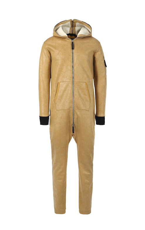 Onepiece Soft Bomber Jumpsuit Camel