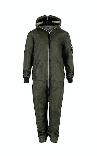 Onepiece Soft Bomber Kids Jumpsuit Green