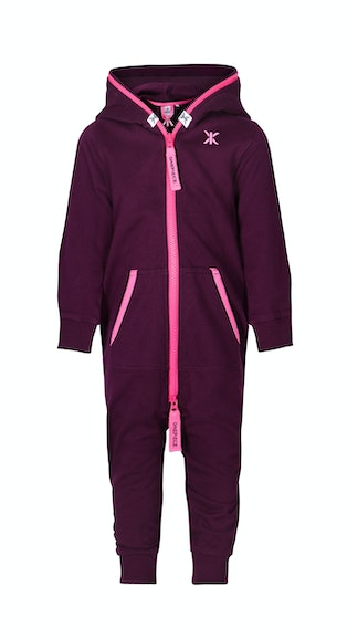 Onepiece Solid Baby Jumpsuit Burgundy
