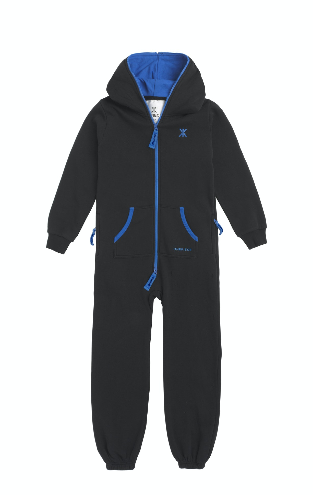 Solid Kids Jumpsuit Black The Solid Kids Jumpsuit is made of super soft premium cotton with a two-way zipper starting from the crotch to the end of the hood.