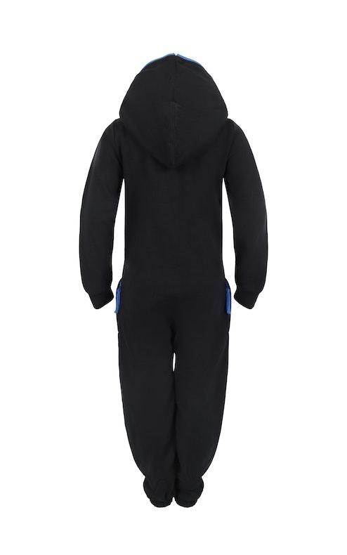 Onepiece Solid Kids Jumpsuit Black