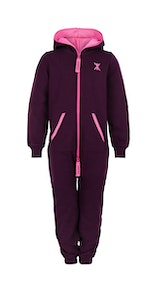 Onepiece Solid Kids Jumpsuit Burgundy