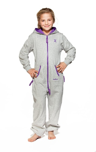 Onepiece Solid Kids Jumpsuit Grey