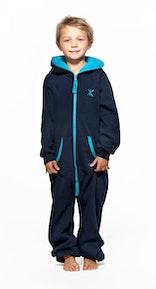 Onepiece Solid Kids Jumpsuit Marineblau