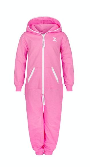 Onepiece Solid Kids Jumpsuit Pink
