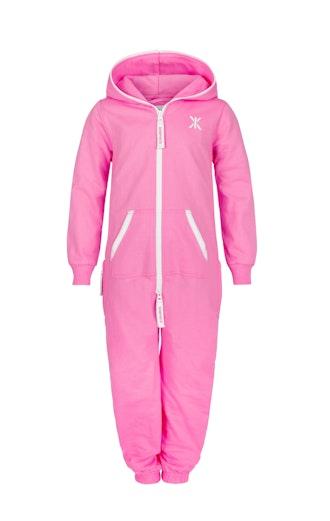 Onepiece Solid Kids Jumpsuit Pink