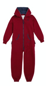 Onepiece Solid Kids Jumpsuit Red Melange