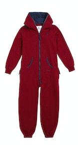 Onepiece Solid Kids Jumpsuit Rot Meliert