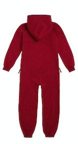 Onepiece Solid Kids Jumpsuit Red Melange