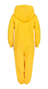 Onepiece Solid Kids Jumpsuit Yellow