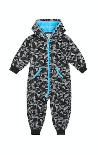 Onepiece Prismatic Baby Jumpsuit Black