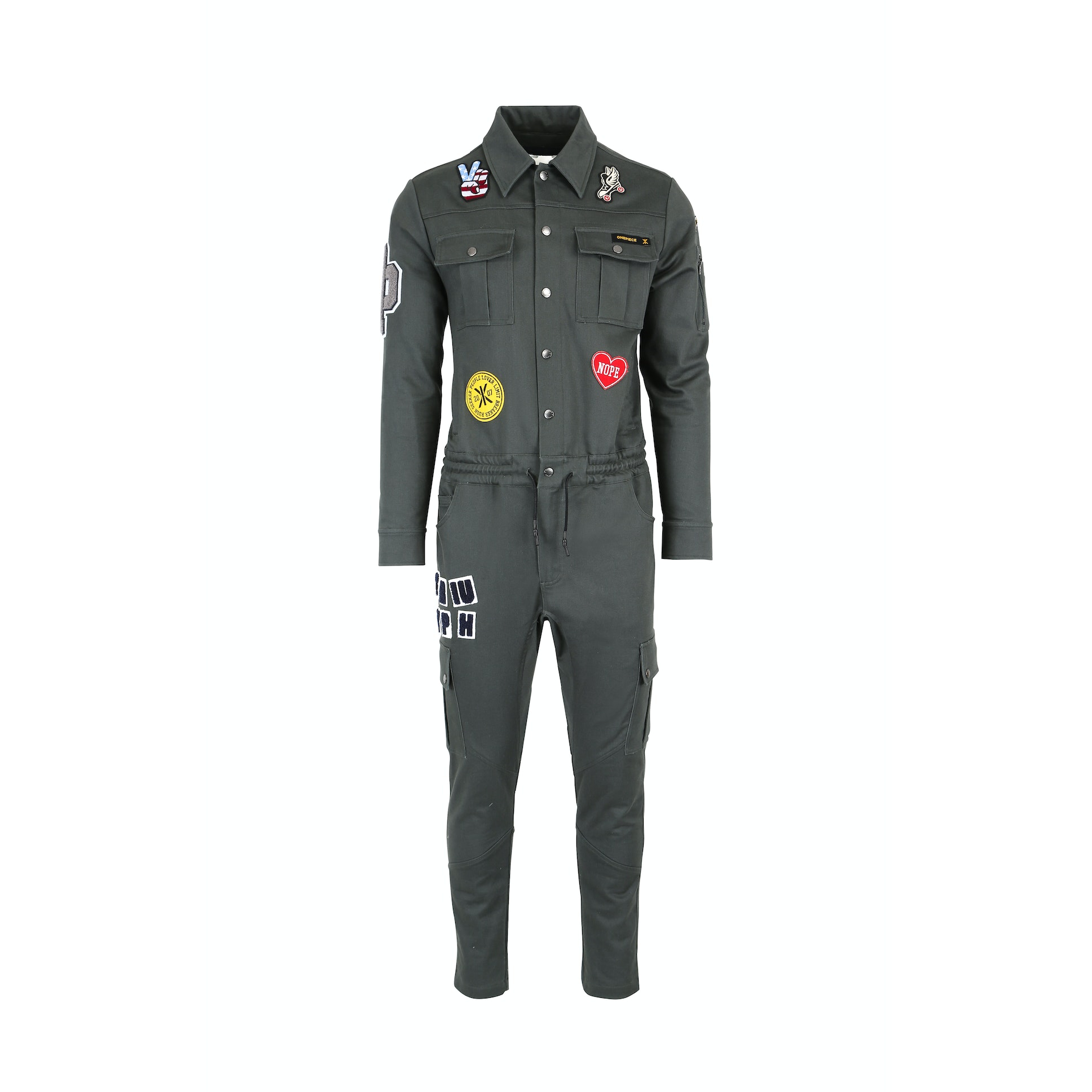 stamina patch jumpsuit army