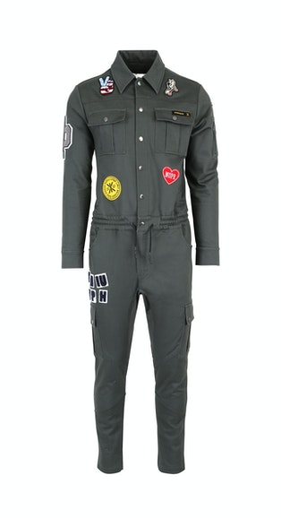 dc8647a7ffa58 Onepiece Stamina Patch Jumpsuit Army