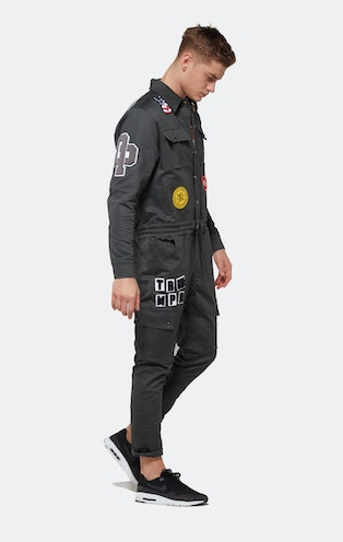 Onepiece Stamina Patch Jumpsuit Army