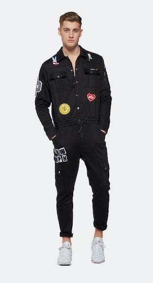 Onepiece Stamina Patch Jumpsuit Black