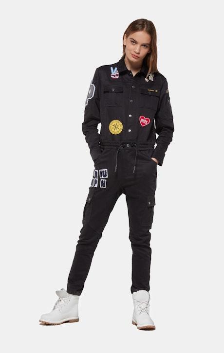 Onepiece Stamina Patch Jumpsuit Schwarz