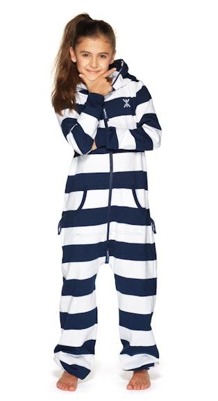 stripe kids jumpsuit navy white. Black Bedroom Furniture Sets. Home Design Ideas