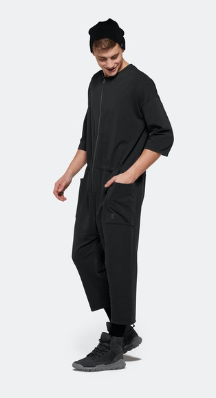 Onepiece Tag Jumpsuit CHARCOAL